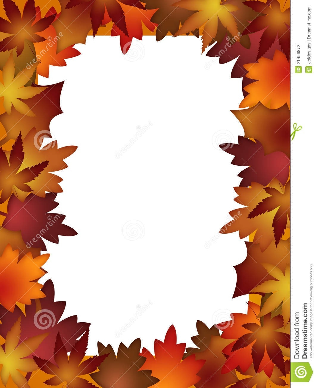 Fall Border Free Printable | Vectorborders - Free Printable Pictures Of Autumn Leaves