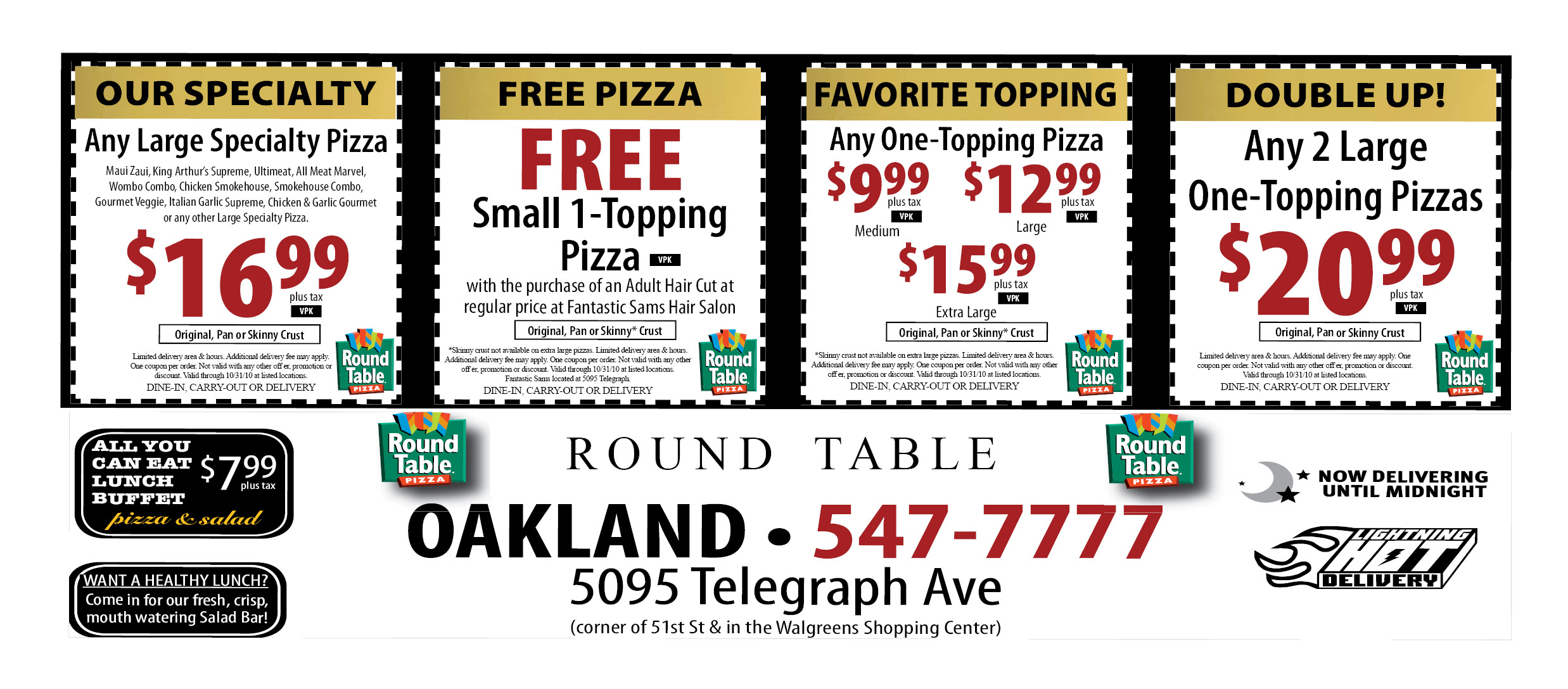 Fancy Round Table Printable Coupons In Stunning Home Decoration - Free Printable Round Table Pizza Coupons