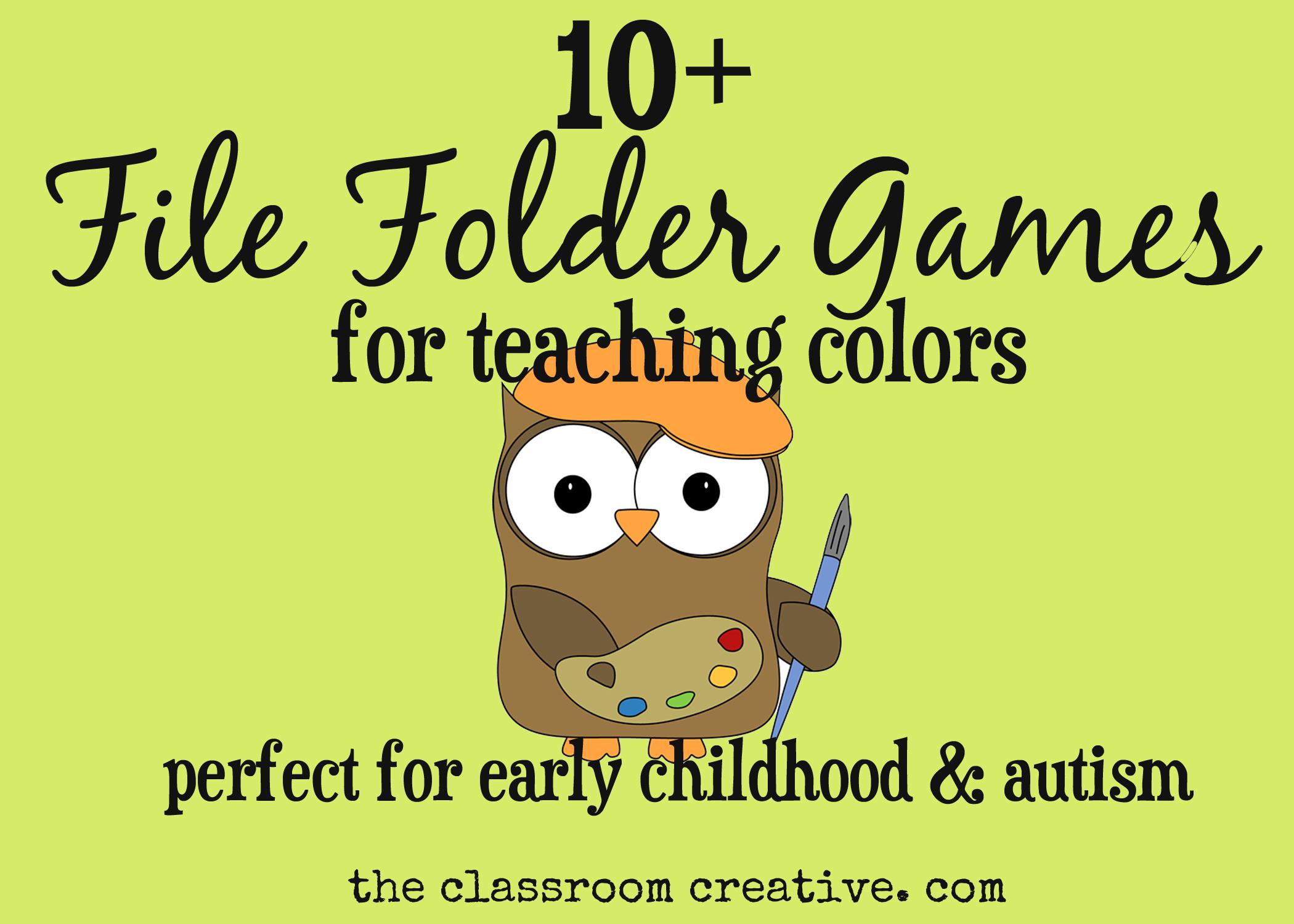 File Folder Games For Teaching Colors - Free Printable Folder Games