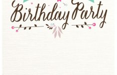 Free Printable Birthday Invitations Pinterest