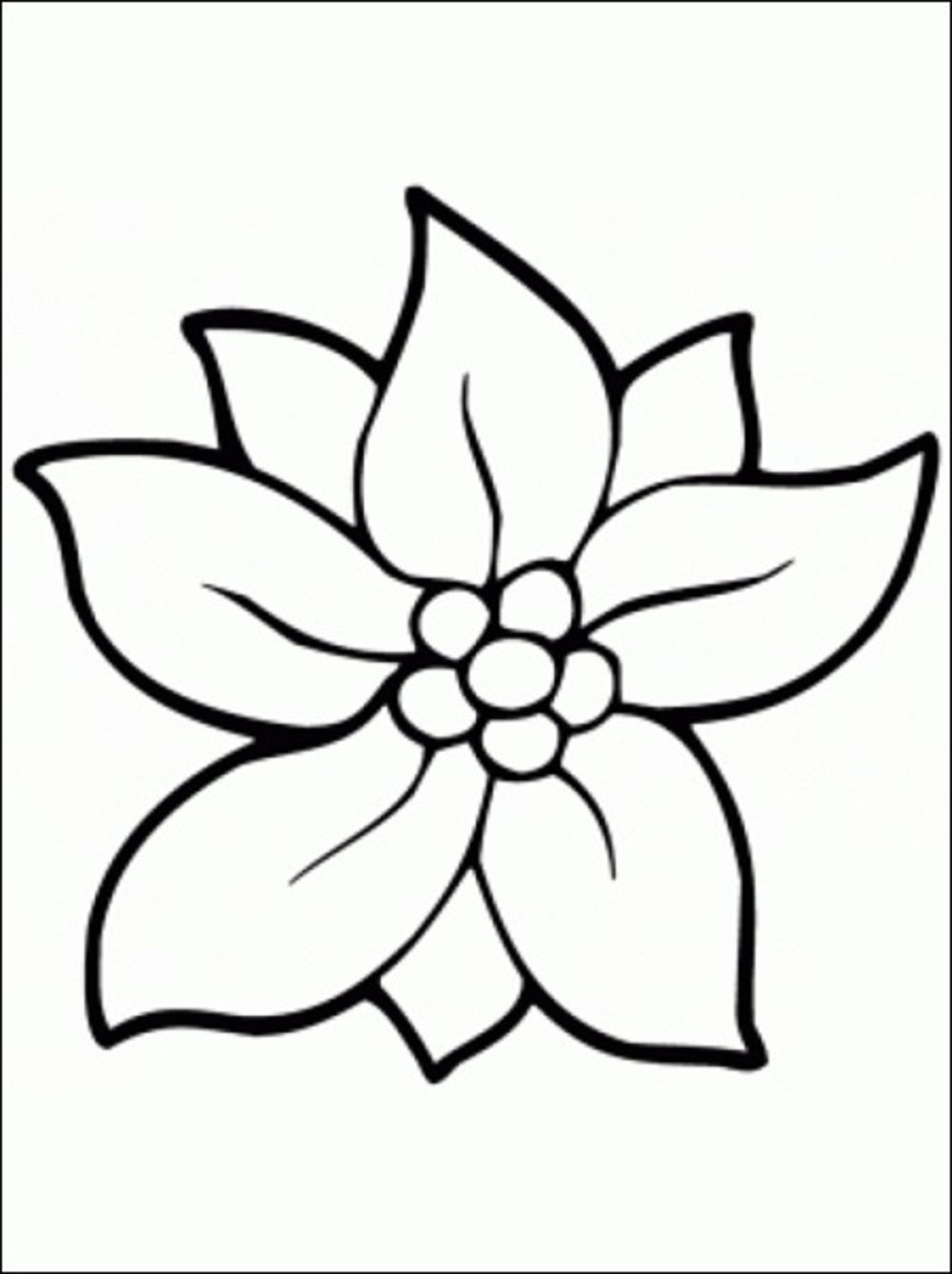 Flower Coloring Pages For Kids Medquit Free Printable Best 1000×1338 - Free Printable Flower Coloring Pages