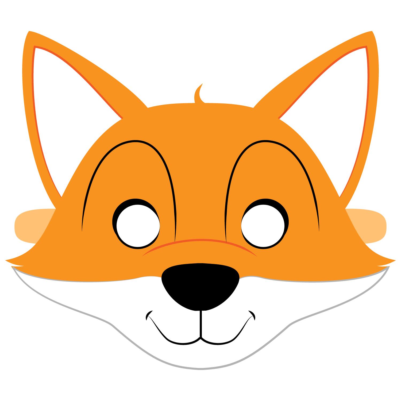 Раскраска маска лисы на голову распечатать
