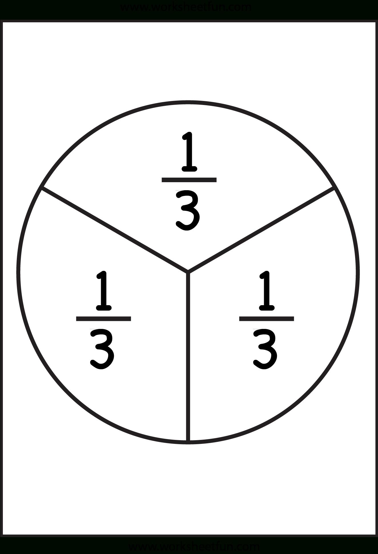 Fraction Circles - 11 Worksheets - 1/2,1/3,1/4,1/5,1/6,1/7,1/8,1/9,1 - Free Printable Blank Fraction Circles