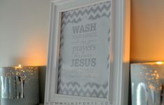 Free Bathroom Printable – Kristen Hewitt – Wash Your Hands And Say Your Prayers Free Printable