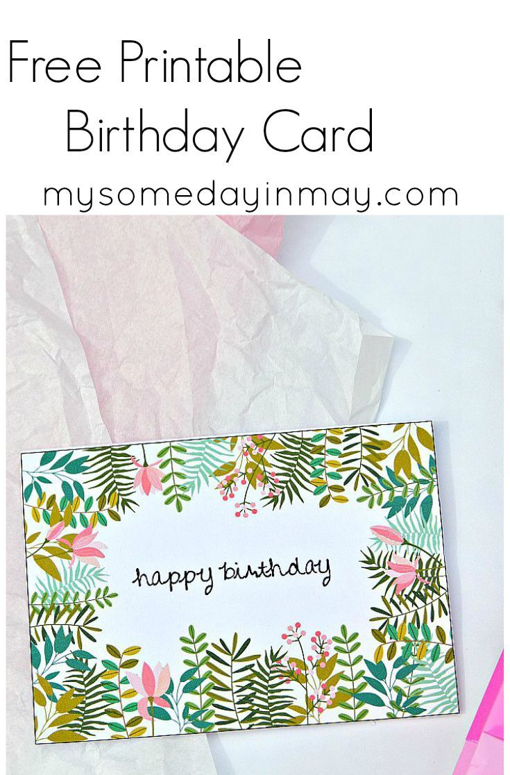 Free Birthday Card   Free Printable Birthday Cards, Printable - Free Printable Birthday Cards For Mom