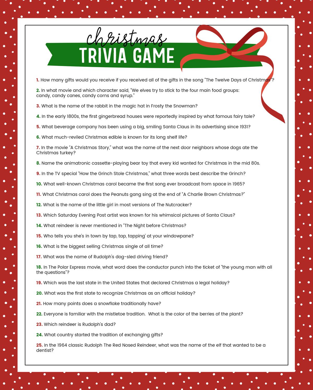 Free Christmas Trivia Game   Lil' Luna - Free Printable Christmas Games For Adults