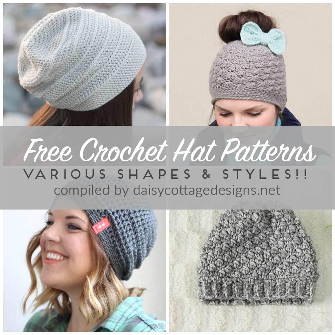 Free Crochet Hat Patterns - Daisy Cottage Designs - Free Printable Crochet Patterns