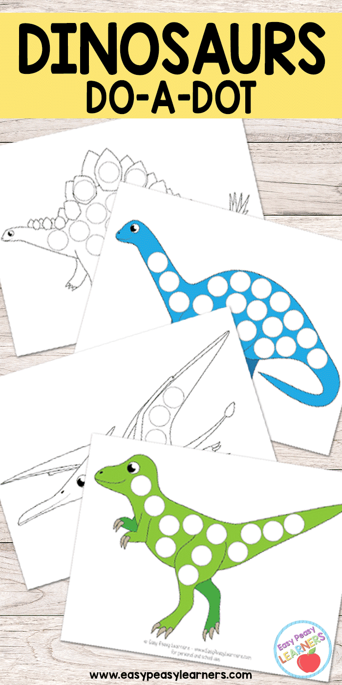Free Dinosaurs Do A Dot Printables - Easy Peasy Learners - Do A Dot Art Pages Free Printable