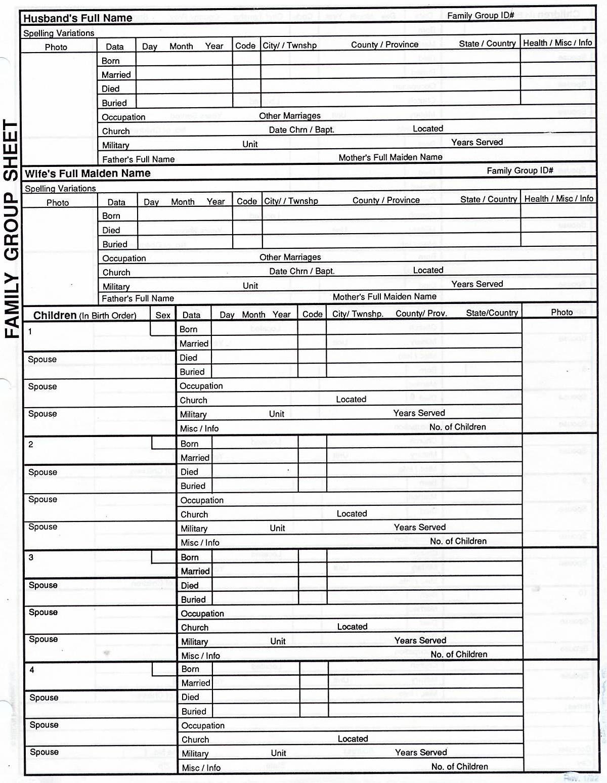 Free Family Tree Print Out | Genealogy | Genealogy Chart, Family - Free Printable Genealogy Worksheets