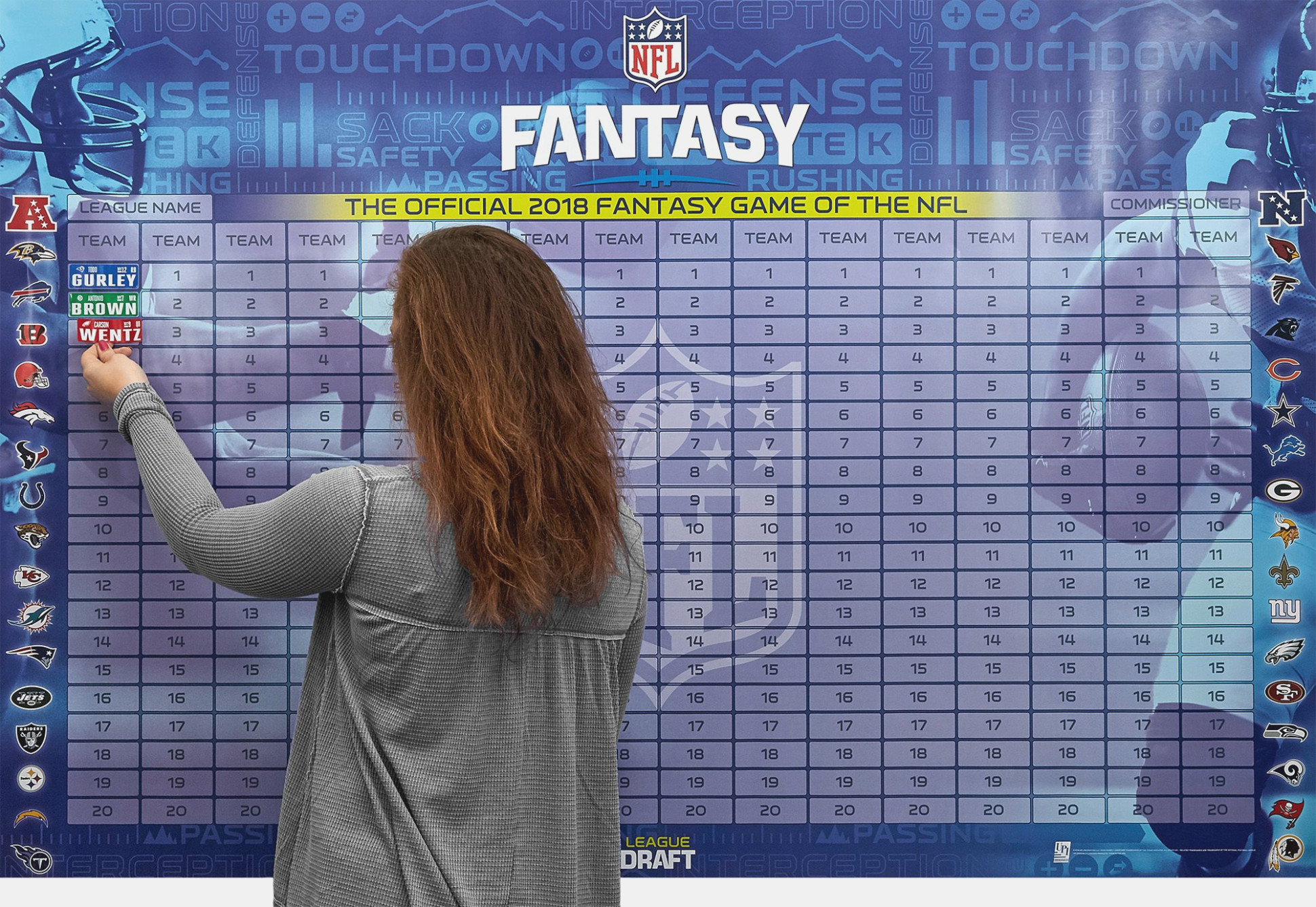 Free Fantasy Football Draft Board Kit | Footballupdate - Free Fantasy Football Draft Kit Printable