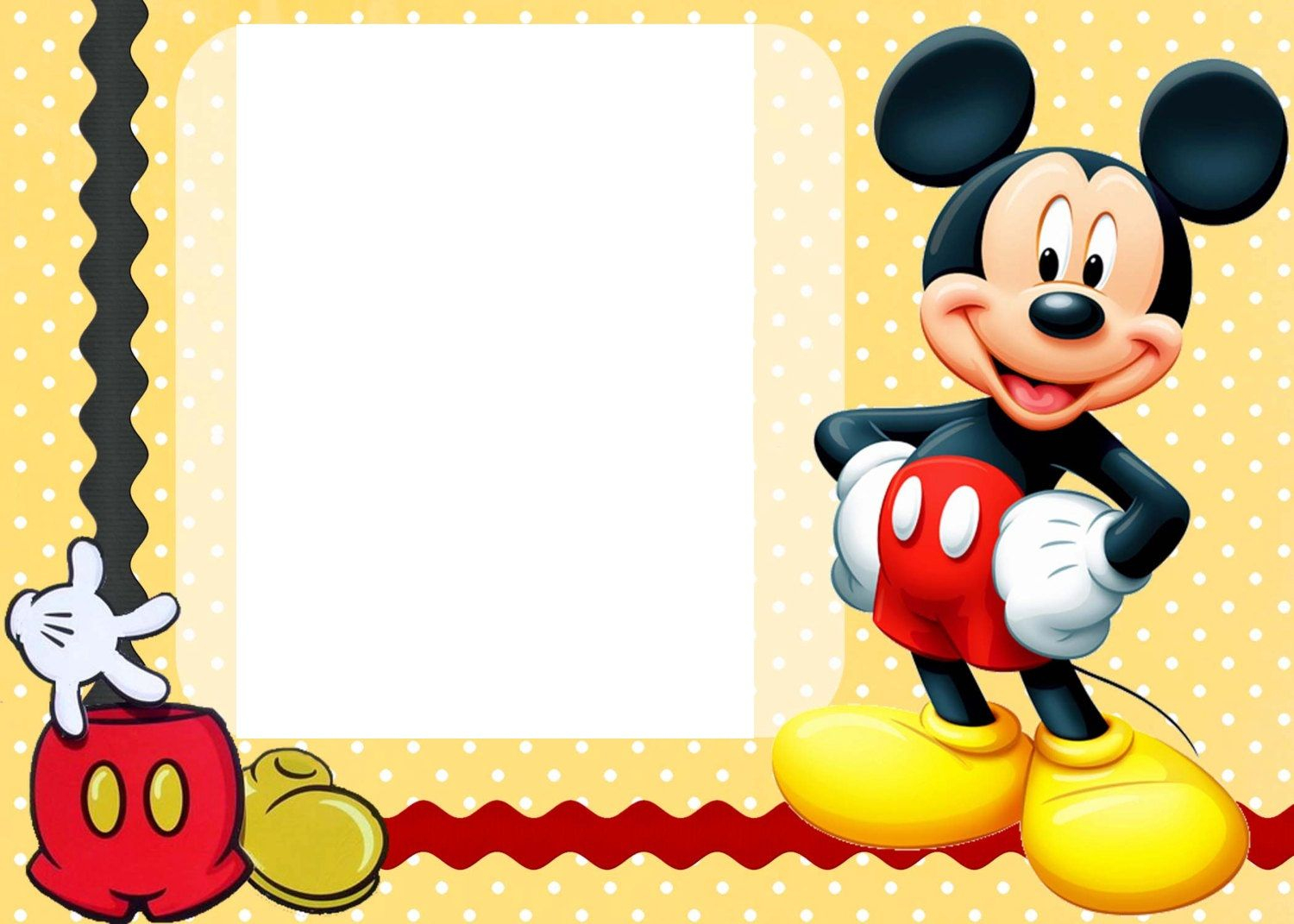 Free Free Printable Custom Mickey Mouse Baby Shower Invitation - Free Printable Mickey Mouse Invitations