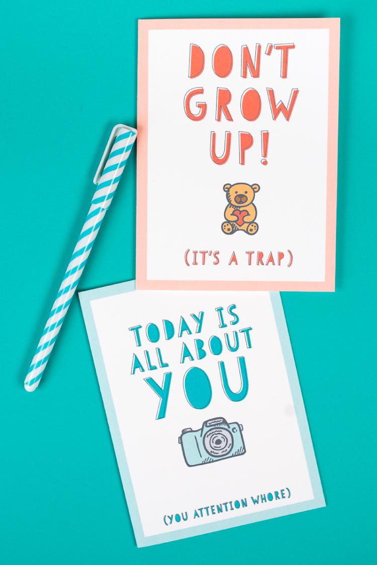 Birthday cards adult printable