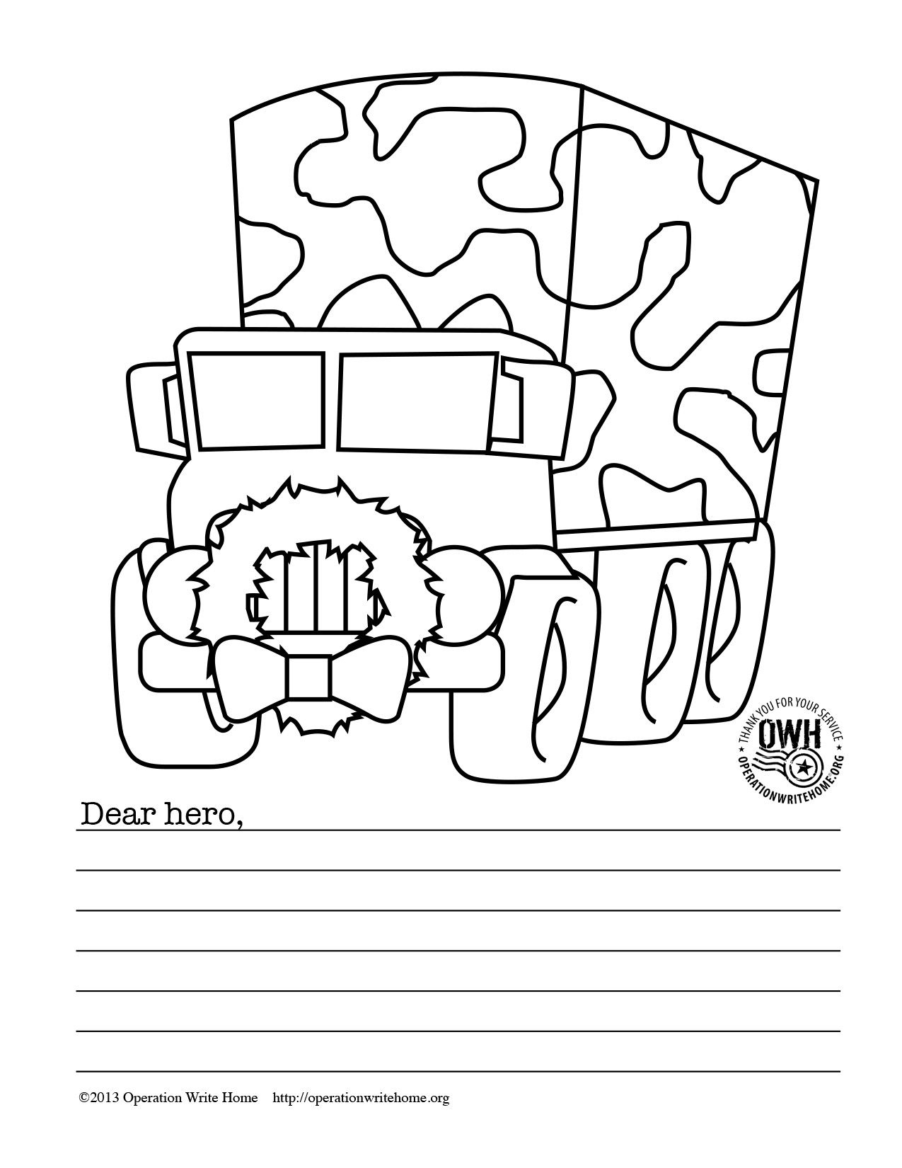 Free Military Coloring Pages For Christmas!   Operation Write Home - Free Printable Christmas Cards To Color