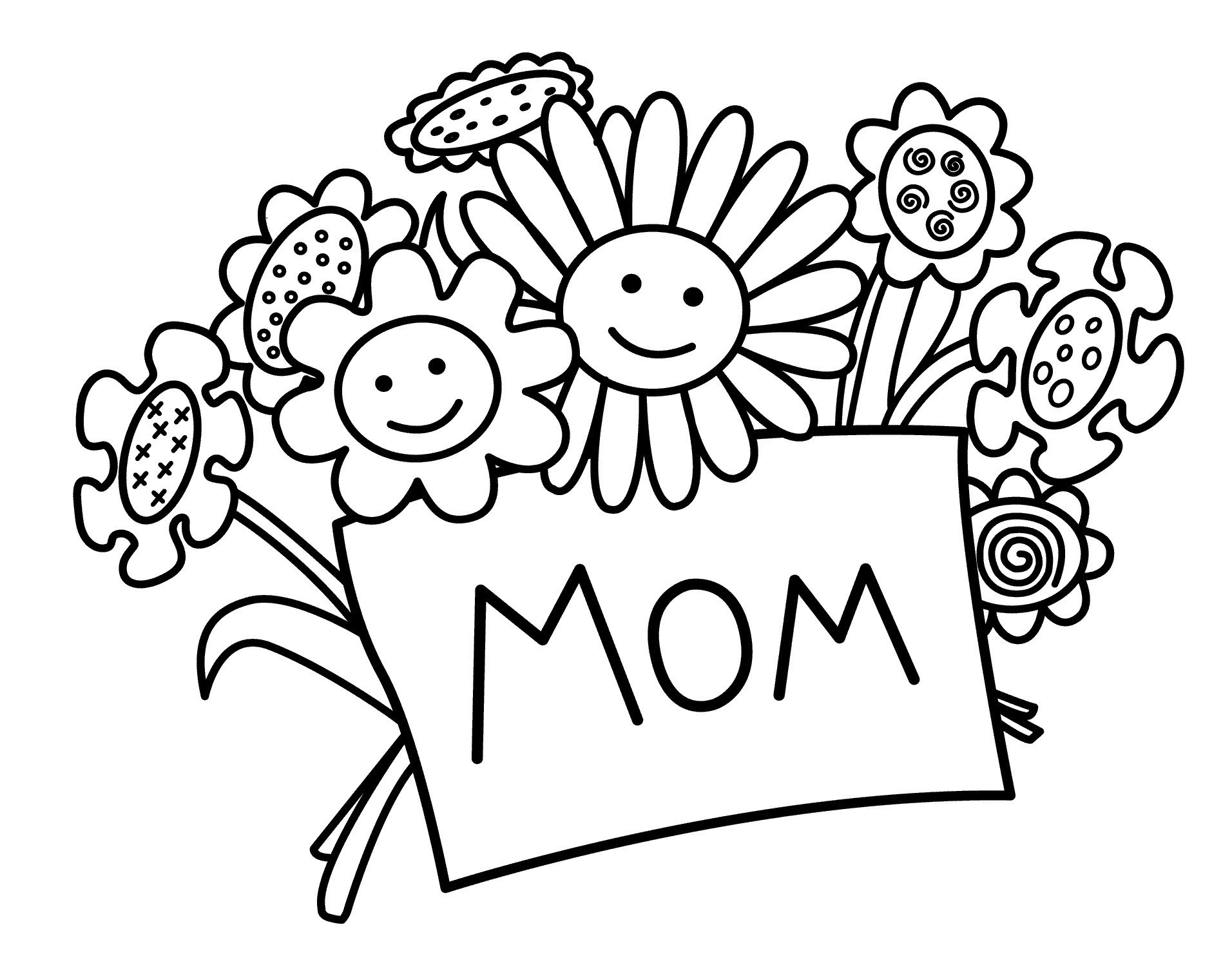 Free Mothers Day Coloring Pages - Nocrc - Free Printable Mothers Day Coloring Cards