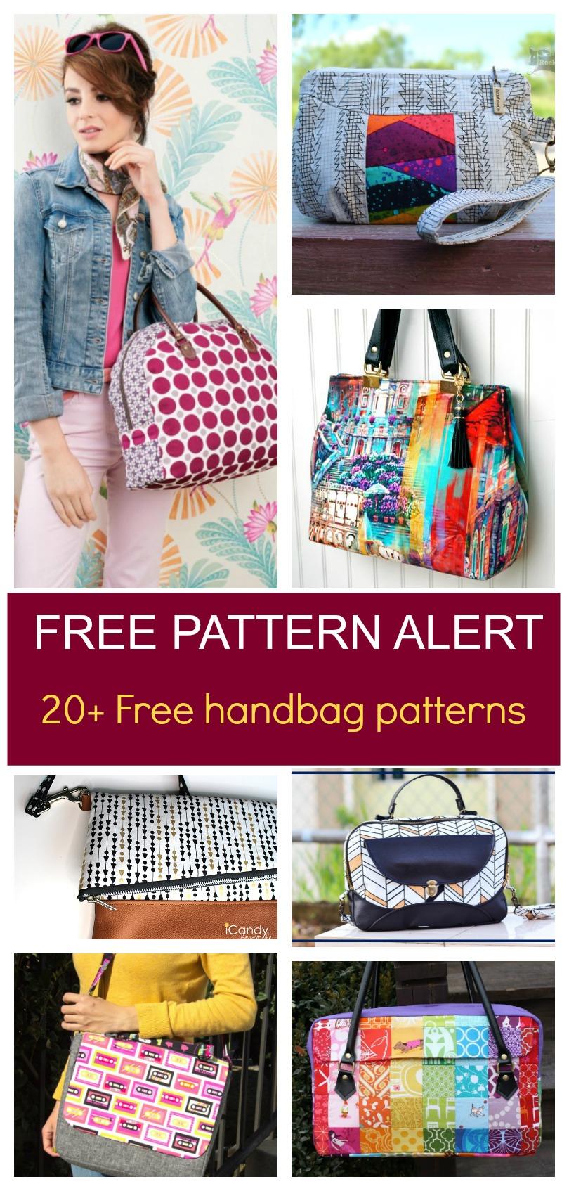 Free Pattern Alert: 20+ Handbag Sewing Patterns   On The Cutting - Free Printable Purse Patterns To Sew
