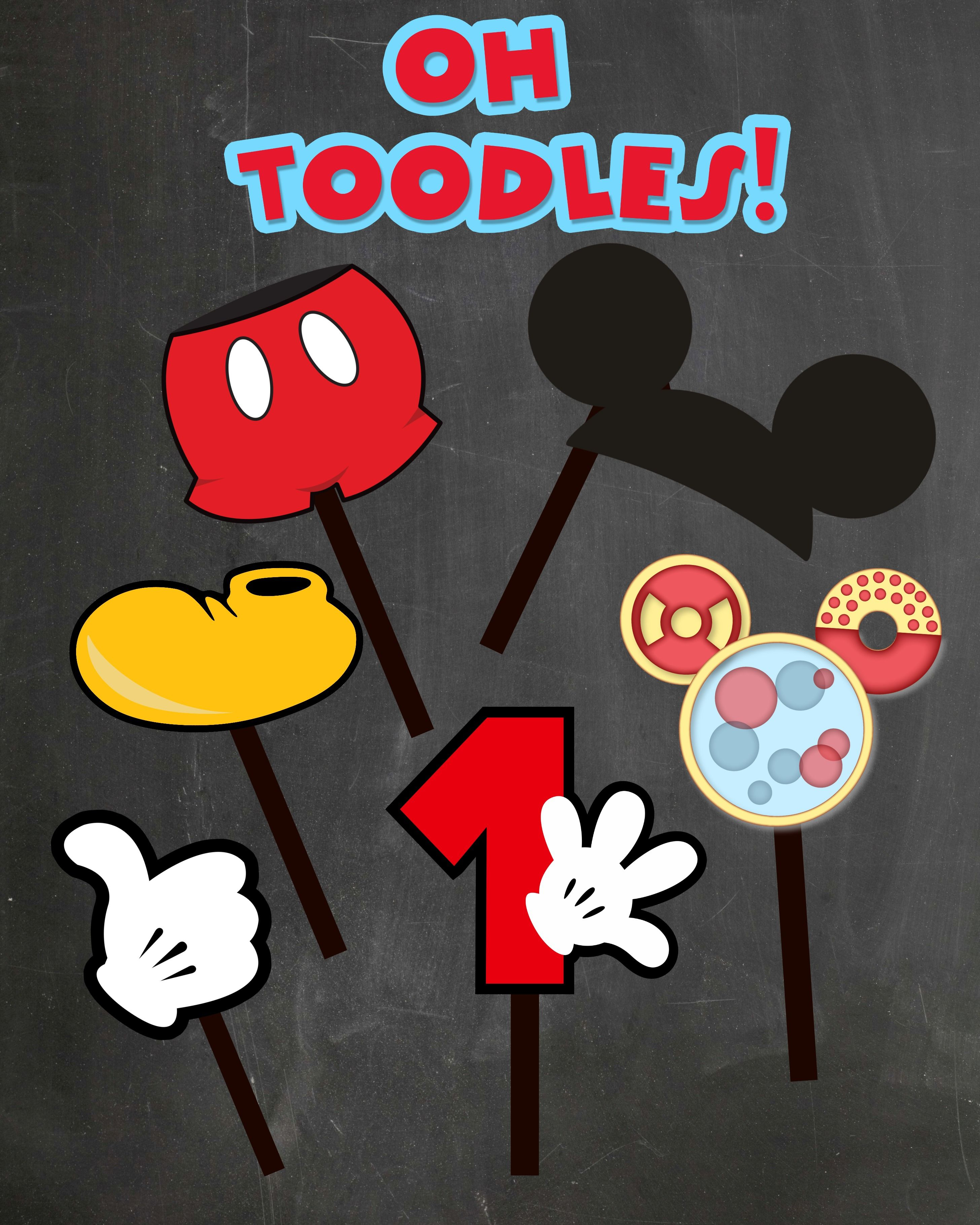 Free Photo Props Mickey Mouse Printable & Templates | Party On - Free Mickey Mouse Printable Templates