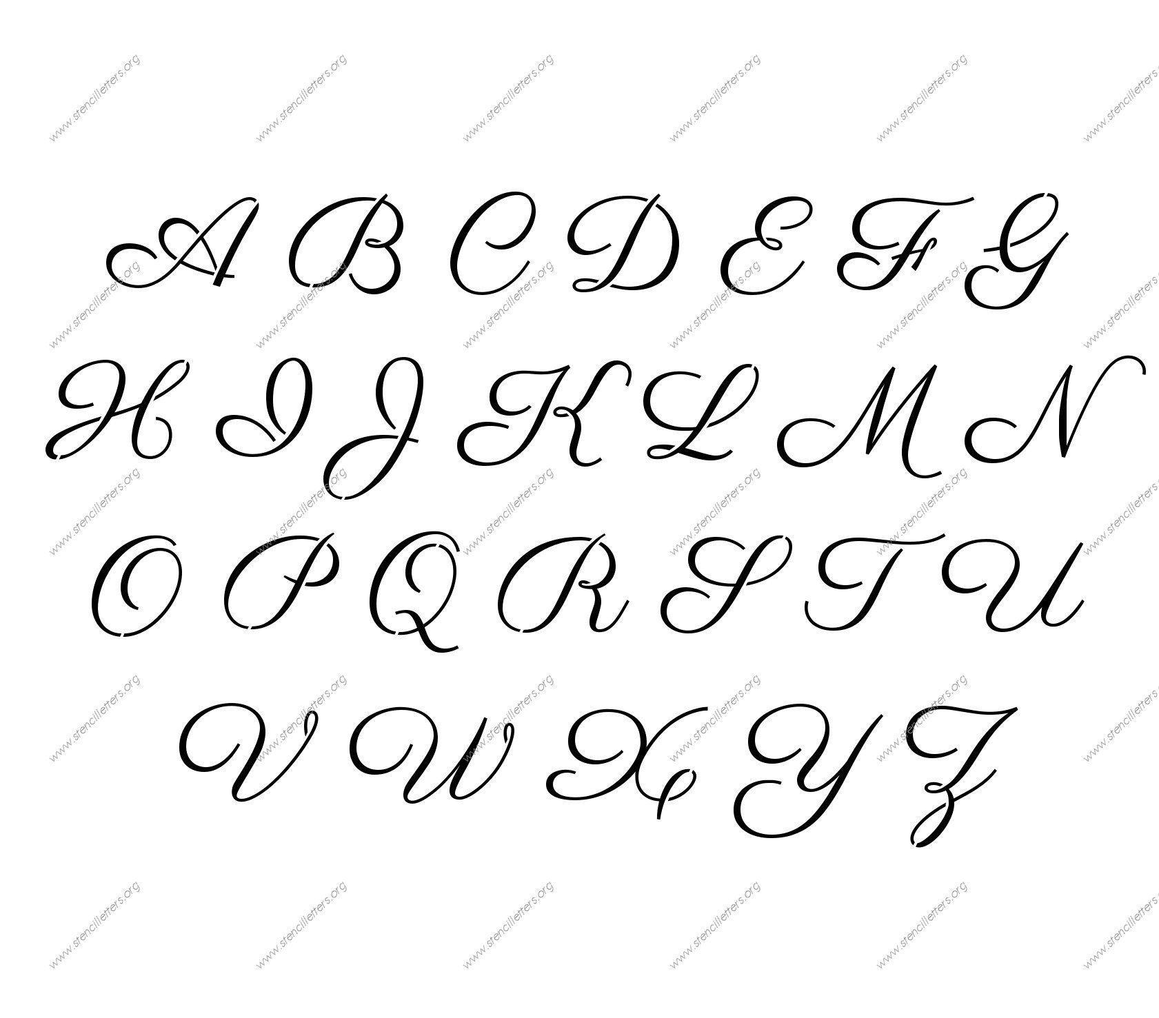Free Printable Alphabet Stencil Letters Template   Art & Crafts - Free Printable Letter Stencils