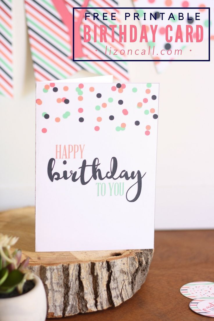 Free Printable Birthday Card And A Giveaway   Parties   Free - Free Printable Birthday Cards For Mom