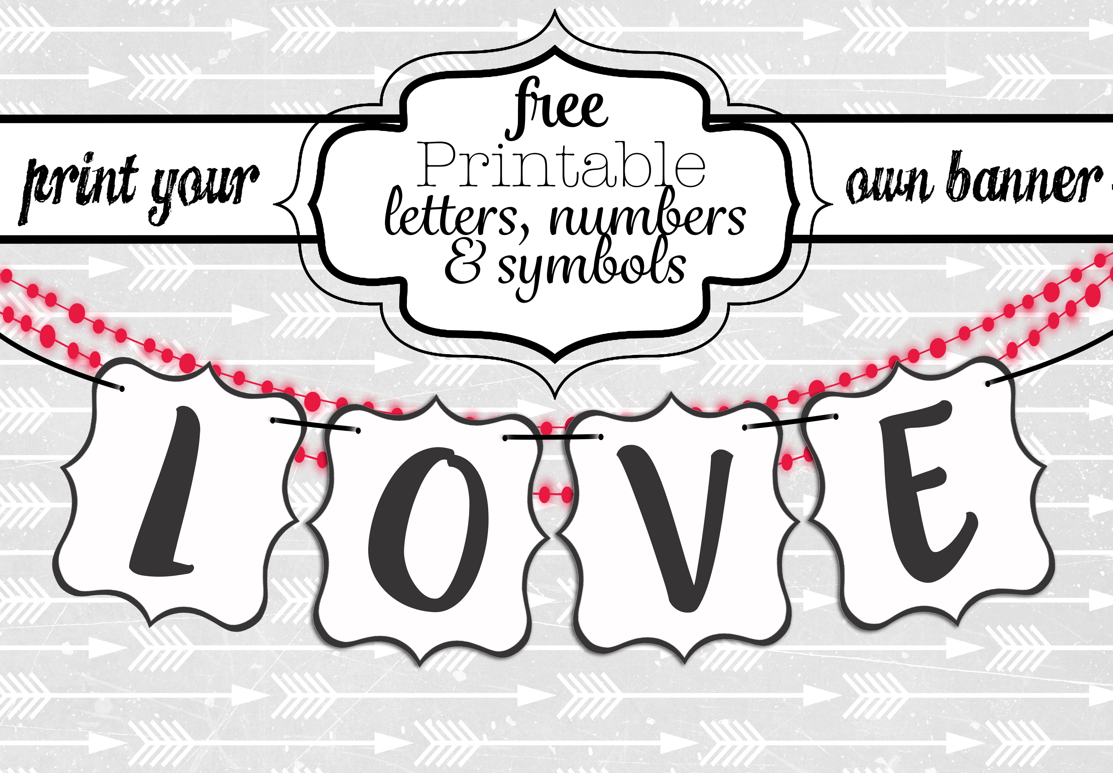 Free Printable Black And White Banner Letters   Diy Swank - Free Printable Welcome Banner Template