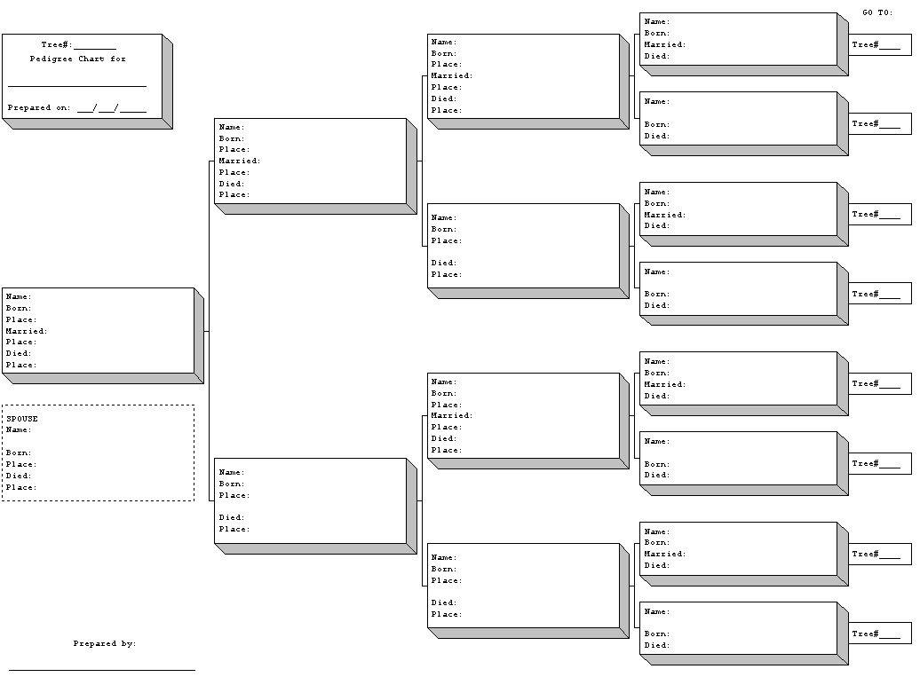 Free Printable Blank Family Tree Charts | Geneology | Pinterest - Free Printable Genealogy Worksheets