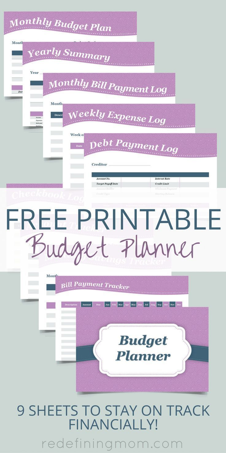 Free Printable Budget Planner | Top Pins From Top Bloggers | Budget - Free Printable Finance Sheets