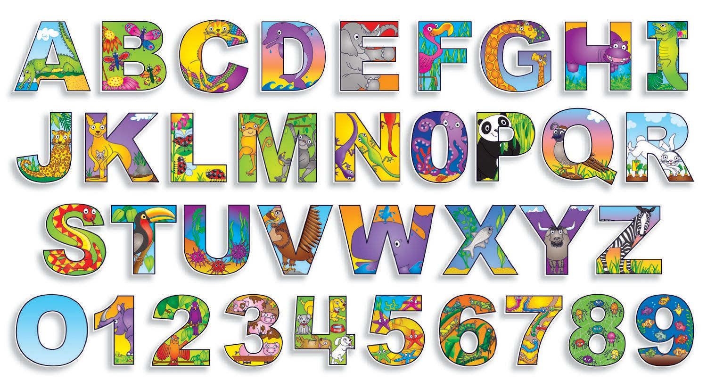 Free Printable Bulletin Board Letters   Illustrated+Alphabet+%26+ - Free Printable Bulletin Board Letters