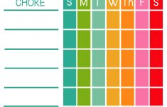Free Printable Chore Charts For 7 Year Olds