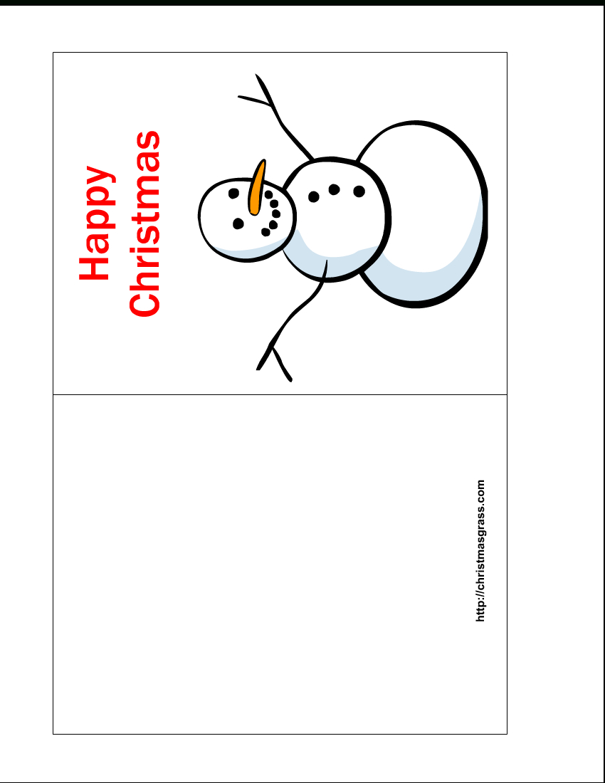 Free Printable Christmas Cards   Free Printable Happy Christmas Card - Free Printable Christmas Cards To Color