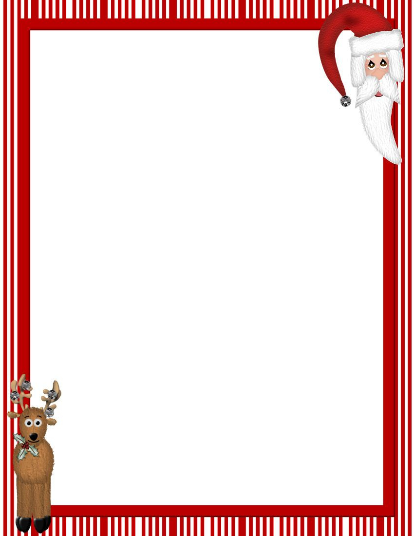Free Printable Christmas Stationary Borders | Christmasstationery - Free Printable Christmas Letters