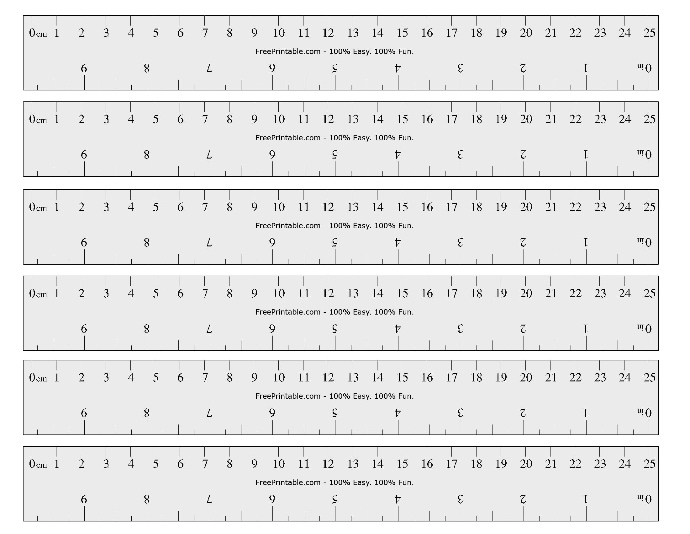 Free Printable Cm/inch Ruler | Math Mania!! - Free Printable Ruler