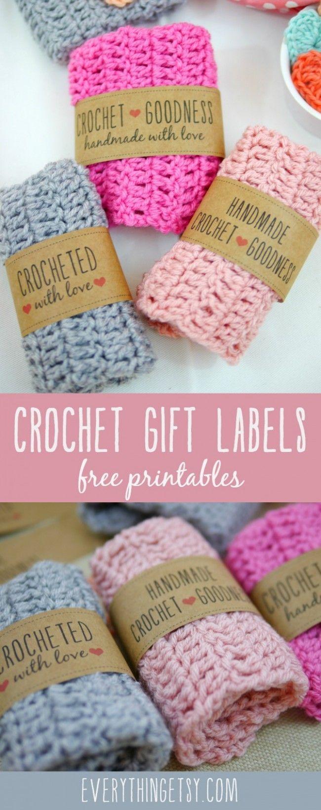 Free Printable Crochet Gift Labels | Crocheting | Pinterest - Free Printable Crochet Patterns