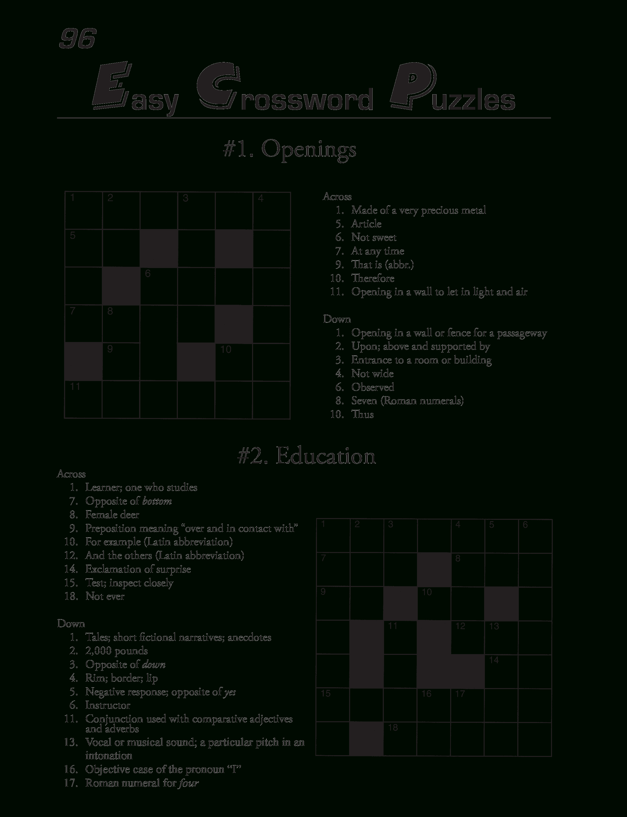 Free Printable Crossword Puzzles Template | Templates At - Free Printable Crossword Puzzles