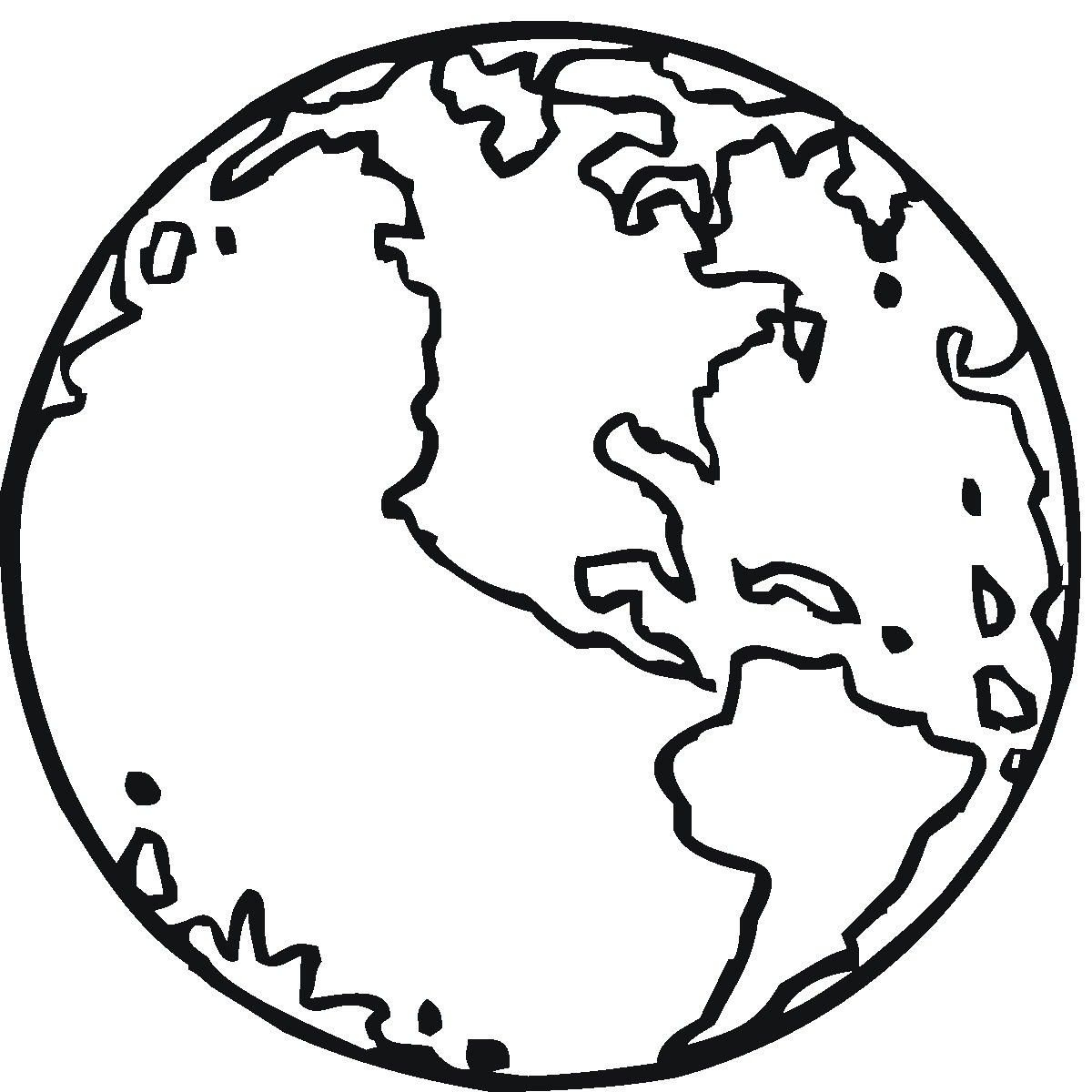Free Printable Earth Coloring Pages For Kids   Stuff   Pinterest - Earth Coloring Pages Free Printable