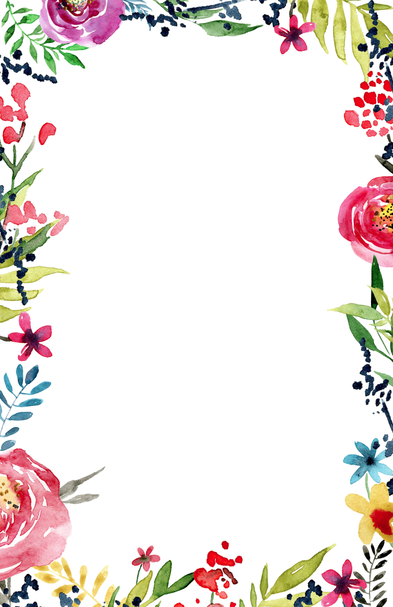 Free Printable Flower Page Borders Clipart Collection - Free Printable Flowers