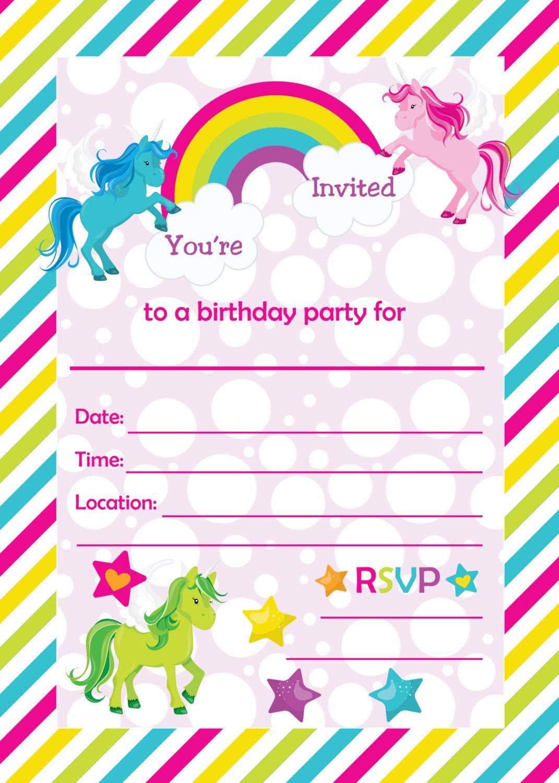 Free Printable Golden Unicorn Birthday Invitation | Serenity's - Free Printable Unicorn Invitations