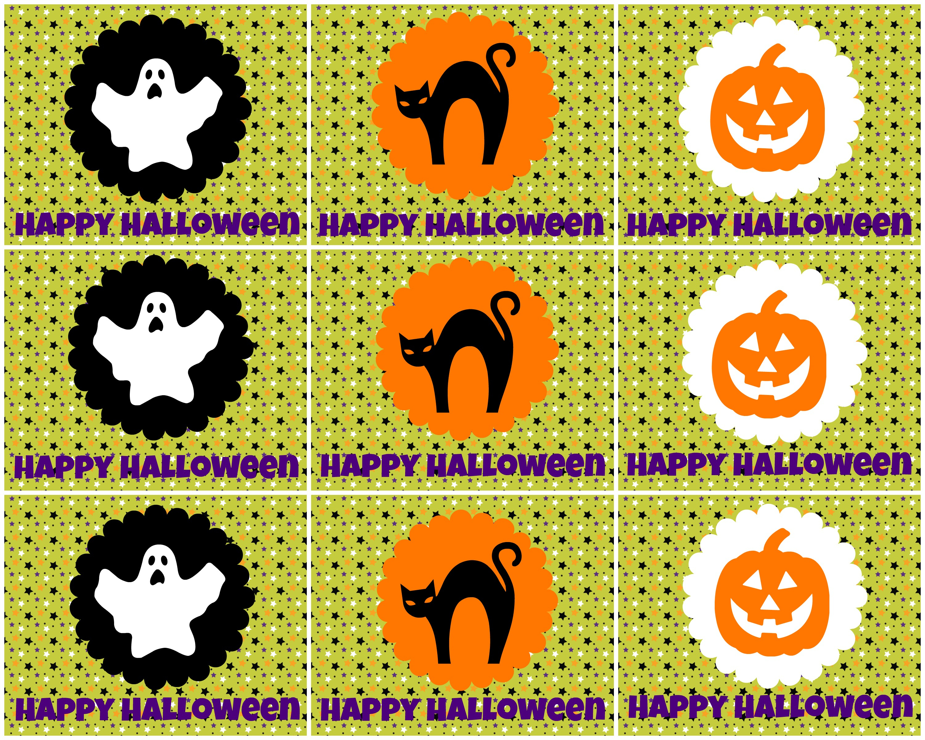 Free Printable Halloween Tags -- For Treat Bags, Labels, And More - Free Printable Halloween Tags