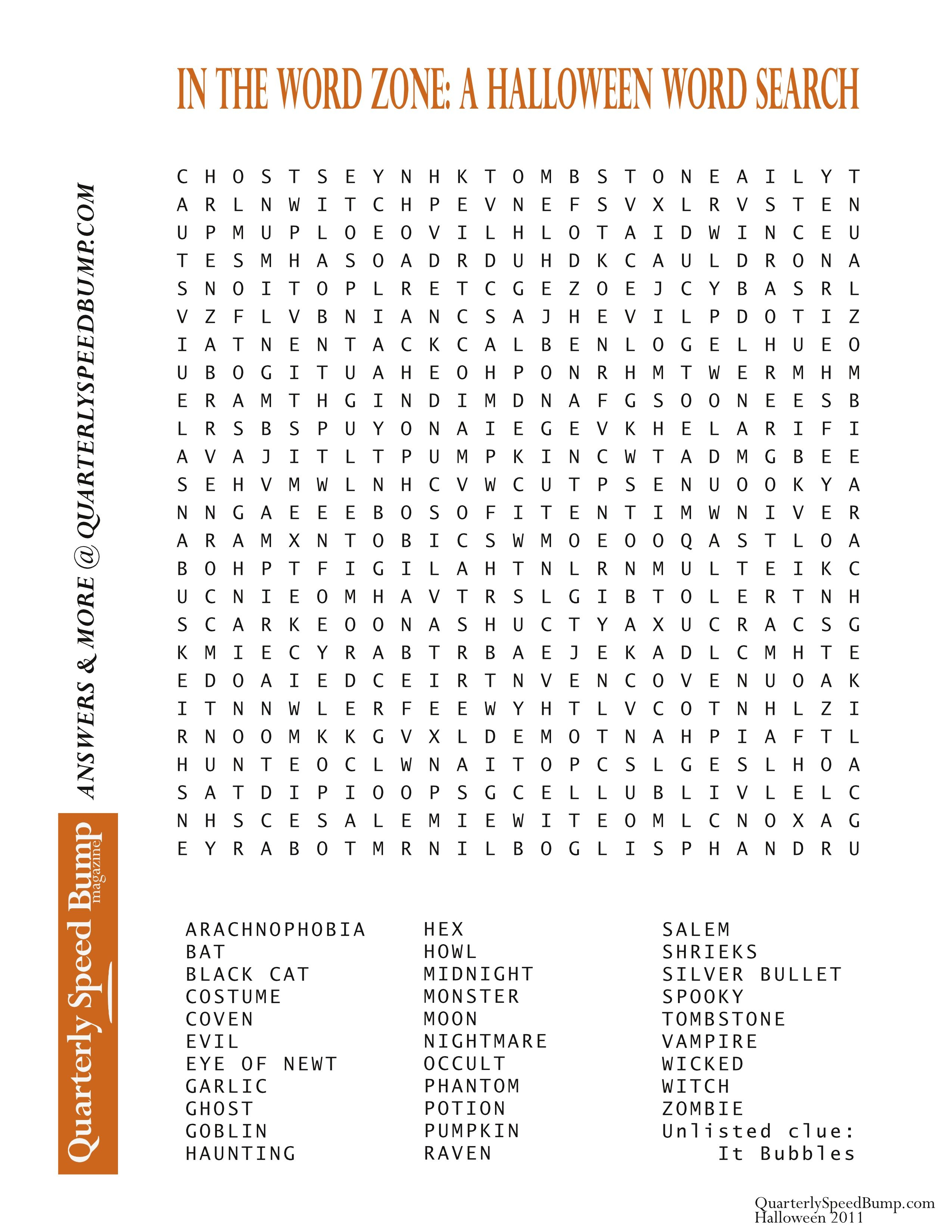 Free Printable Halloween Word Search Puzzles   Halloween Puzzle For - Free Printable Word Searches For Adults