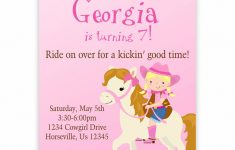 Free Printable Horse Themed Birthday Party Invitations