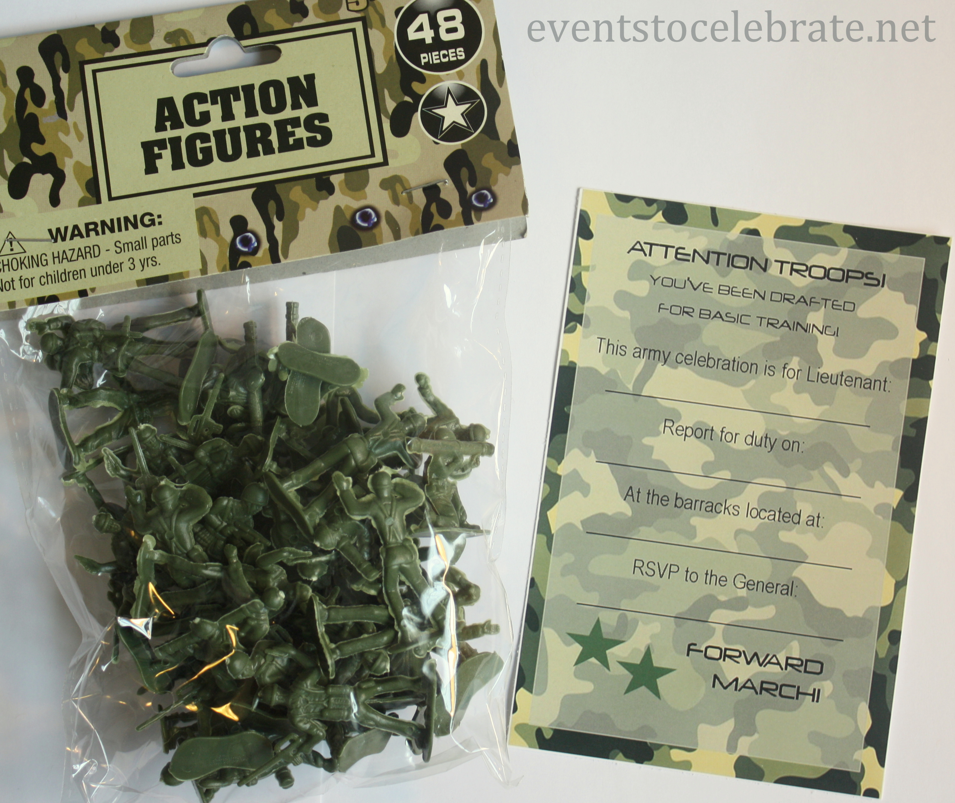 Free Printable Invitations: Army, Car Racing & Swim Party - Events - Free Printable Camouflage Invitations