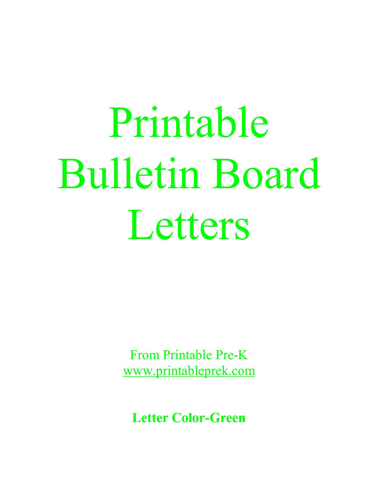 Free Printable Letter Templates For Bulletin Boards   Template To - Free Printable Bulletin Board Letters
