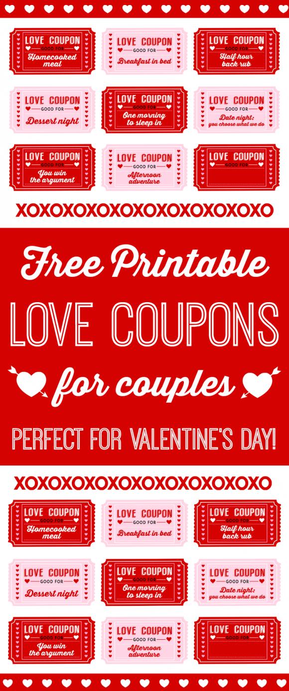 Free Printable Love Coupons For Couples On Valentine's Day - Free Printable Compatibility Test For Couples
