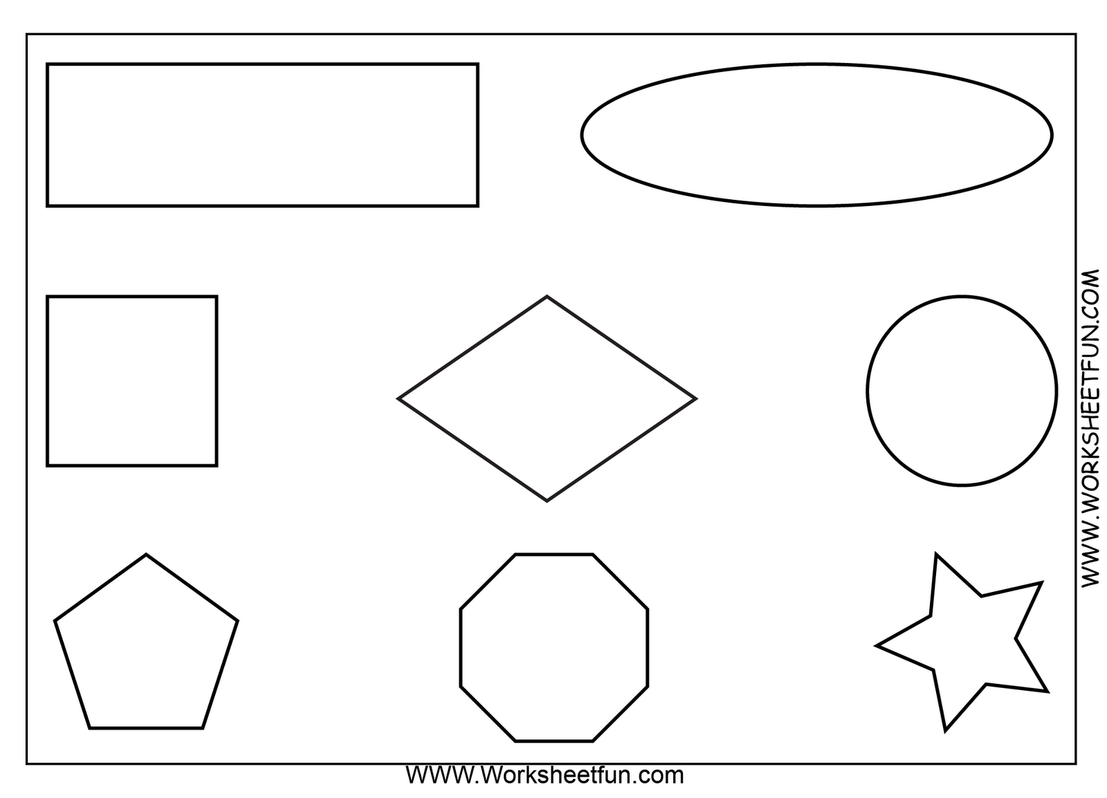 Free Printable Math Worksheets. Use As An Oral Direction Exam. Ex - Free Printable Shapes Worksheets