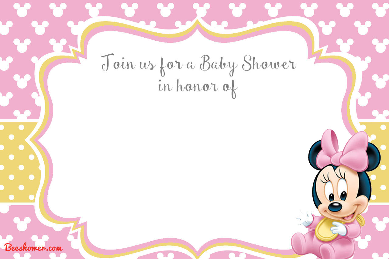 Free Printable Minnie Mouse Baby Shower Invitations Free Printable - Free Printable Minnie Mouse Baby Shower Invitations