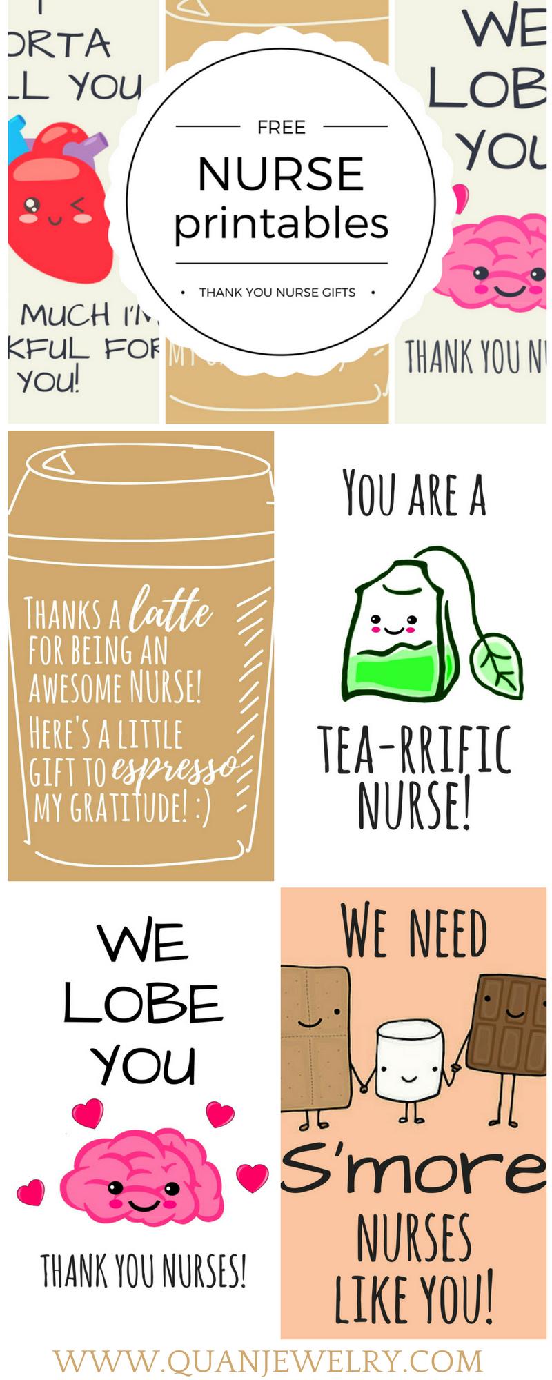 Free Printable Nurse Appreciation Thank You Cards | Gifts For Nurses - Nurses Week 2016 Cards Free Printable