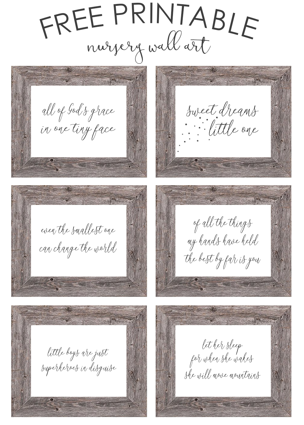 Free Printable Nursery Wall Art - The Girl Creative - Free Printable Wall Art Decor