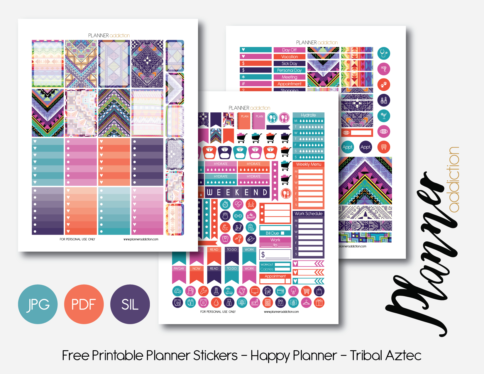Free Printable Planner Stickers – Planner Addiction - Free Printable Happy Planner Stickers
