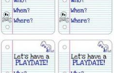 Free Printable Play Date Cards | Free Printable – Free Printable Play Date Cards