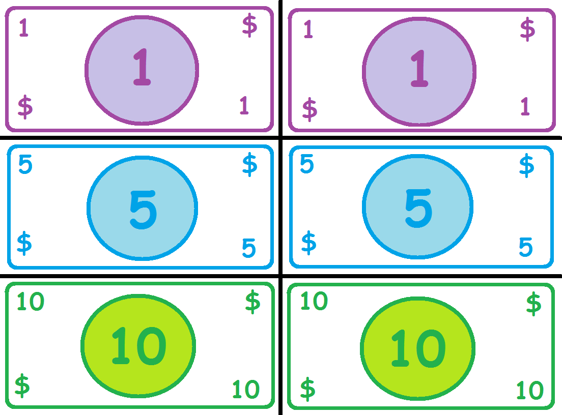 Free Printable Play Money | Madhouse Mommy: Play Money | Pretend - Free Printable Play Money Sheets