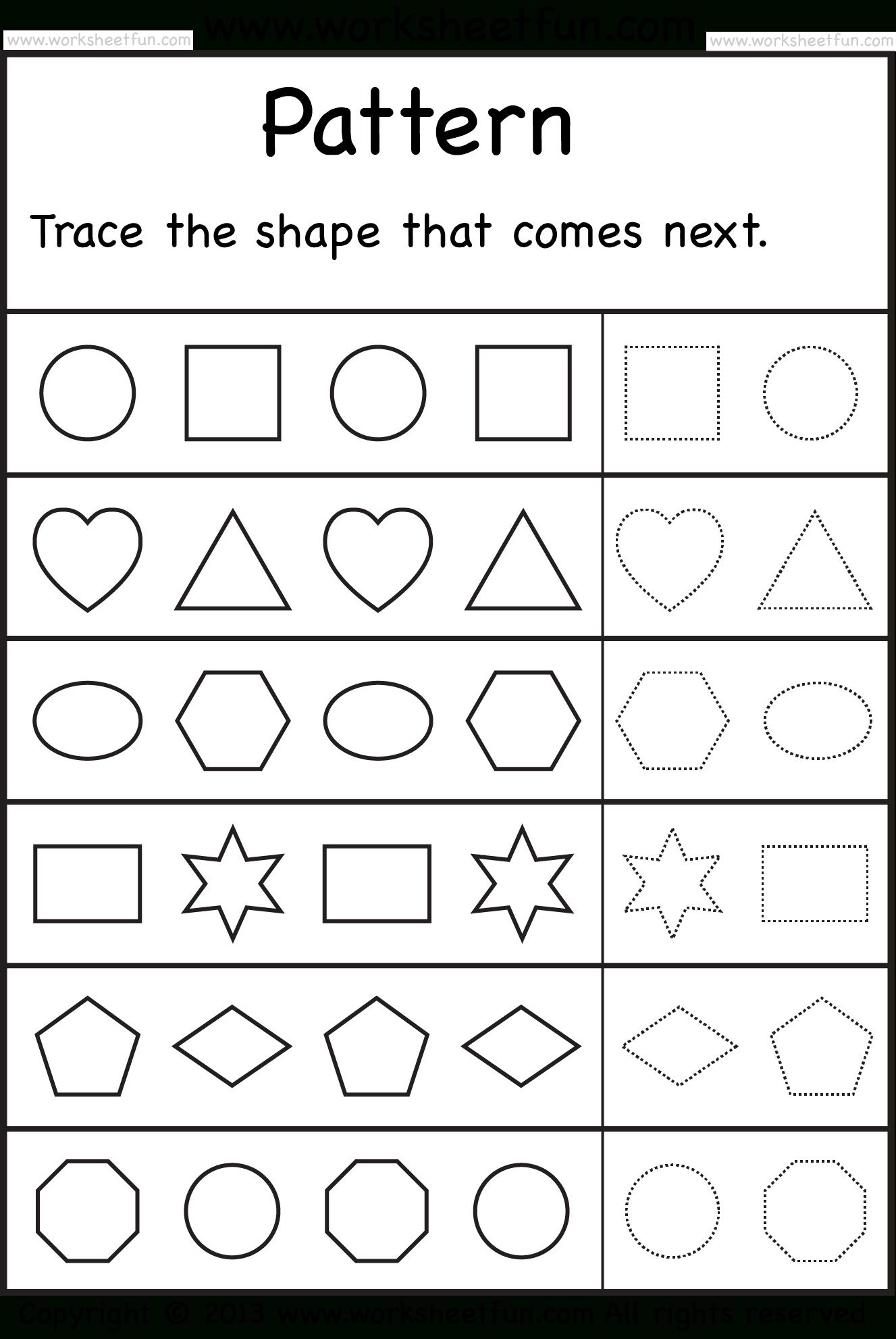 Free Printable Preschool Worksheets | Arts And Crafts | Kindergarten - Free Printable Preschool Worksheets