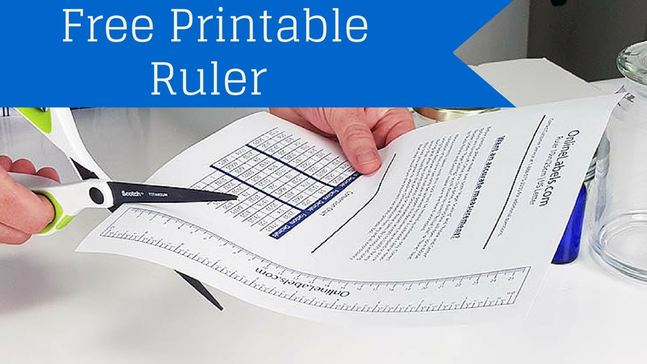 Free Printable Ruler - How To Measure Jar, Bottles And More! - Youtube - Free Printable Ruler